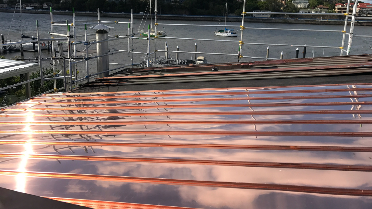 Copper Facade Cladding Australia